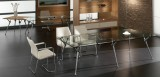 280x120x72, Top - Glass, Legs - Aluminium